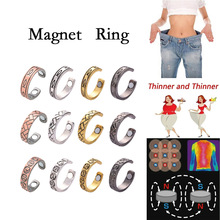 Magnetic Therapy Weight Loss Slimming Ring Adjustable Natural Fat Burning Stimulation Acupoint Slimming Body Health Care
