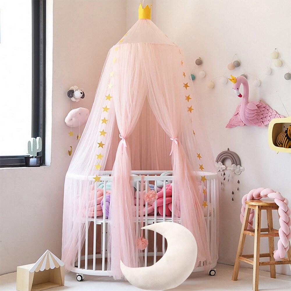 - Baby Crib Netting Mosquito Net Hanging Round Kids Princess Tent
