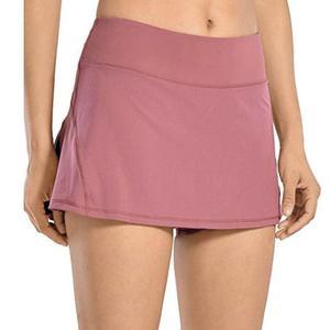 Da Ginnastica di Sport delle donne di Yoga Costeggiava Shorts A Vita Alta Doppio Strato Tasca Golf Pannello Esterno di Fitness traspirante Pantaloncini Per Lo Sport Shorts