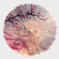 Windproof Oiled Paper Umbrella Rain Women High Quality Full Bamboo and Wooden Decorative Chinese Japanese Umbrellas Dance Props