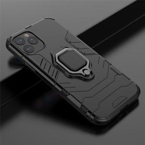Для Huawei Nova 7I 6SE 5i Pro 3 4 бронированное металлическое кольцо матовый Силиконовый чехол с подставкой для Nova 6 5G 5i 5T 5Z 4SE 3I