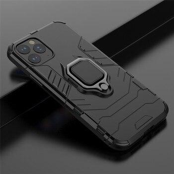 Перейти на Алиэкспресс и купить Для Huawei Nova 7I 6SE 5i Pro 3 4 бронированное металлическое кольцо матовый Силиконовый чехол с подставкой для Nova 6 5G 5i 5T 5Z 4SE 3I