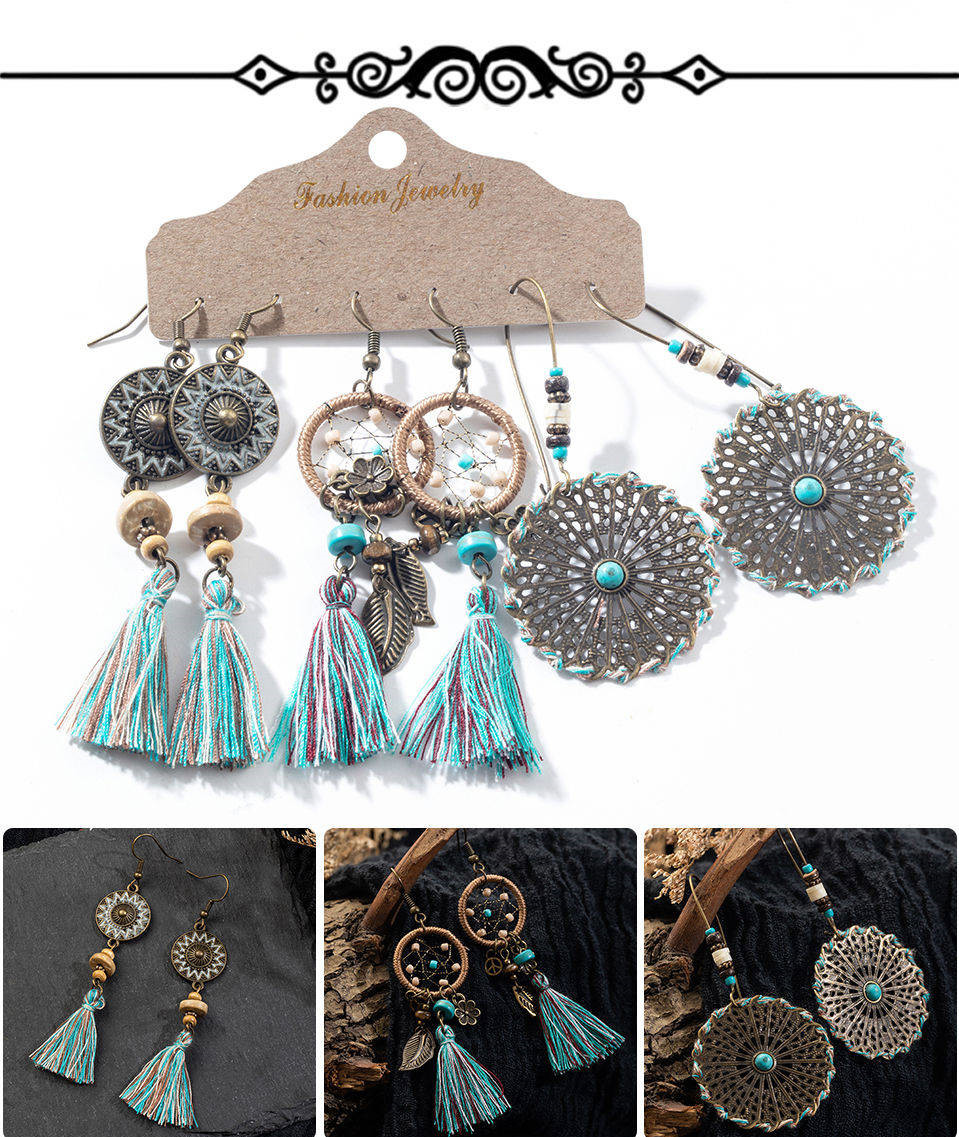 He780403be52c4a1ca9adf9e579404c34e - Multiple Women's  Boho Ethnic Drop Earrings