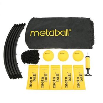 Mini piłka do siatkówki Spike gra z piłkami zestaw Outdoor Team sport Spikeball sprzęt do ćwiczeń trawnika z 3 kulkami tanie i dobre opinie spikeball-1 Siatkówka plażowa Black+Yellow 1 5kg 55cmx23cmx10cm