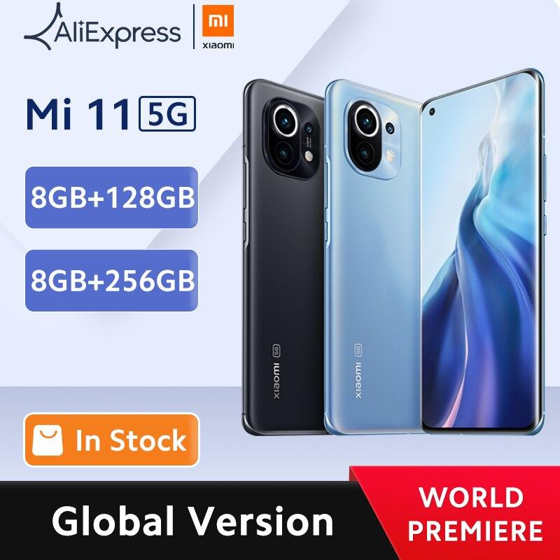 Premiworld premier global versão global xiaomi mi 11 smartphone 8gb ram 128gb rom snapdragon 888 octa núcleo 55w carga rápida 120hz amoled