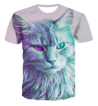 Popular animal creative design 3D print T-shirt summer Top Men's psychedelic dizziness / color street style versatile s-6xl stylish men s women s wine glass digital print 3d print casual t shirt harajuku style t shirt street top s 7xl free shipping