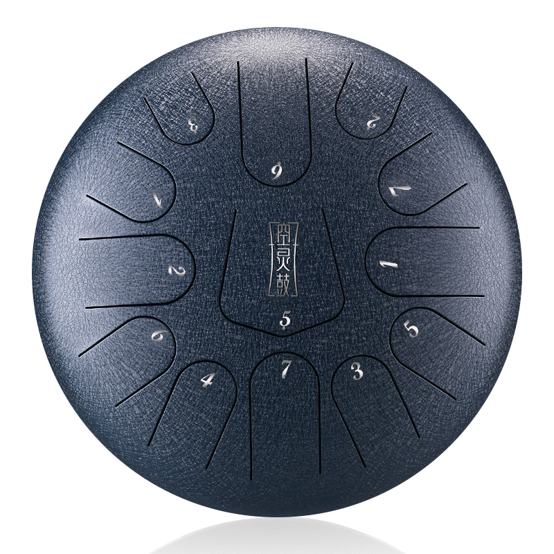 Brand 12 Inch Drum 13 Tone Steel Tongue Drum  With Padded Drum Bag And A Pair Of Mallets  huedrum Yoga Meditation