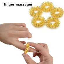 5 pcs/lot Finger Massager Ring Acupuncture Therapy Relax Han