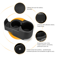 25pcs Car Drinks Holder Cup Mount Center Console Double Cup Holder for Smart Fortwo 451/450 1998 2015 Car Bottle Organizer