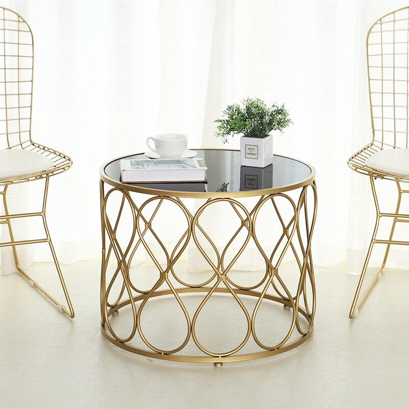 Modern Minimalist Living Room Coffee Table Creative Round Black
