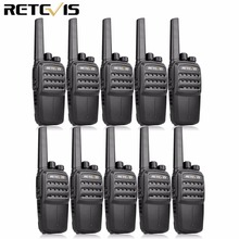 10pcs RETEVIS RT40 DMR Digital PMR Radio Walkie Talkie FRS/PMR446 446MHz 0.5W VOX USB Charging Private/Group Call Two Way Radio
