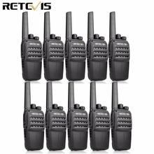 RETEVIS RT40 DMR dijital PMR radyo Walkie Talkie 10 adet FRS/PMR446 446MHz 0.5W VOX USB şarj özel/grup çağrı iki yönlü telsiz