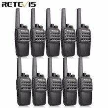 RETEVIS Walkie Talkie RT40 DMR Digital, 10 Uds., FRS/PMR446, 446MHz, 0,5 W, VOX, carga USB, llamada privada/de grupo, Radio bidireccional