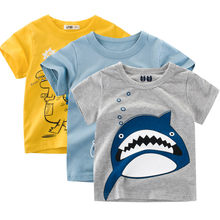 Infant Baby Kids Boys Cotton T-Shirts Summer Short Sleeve Cartoon Print Polo O-neck T-Shirt Blouse Clothes #BL2(China)