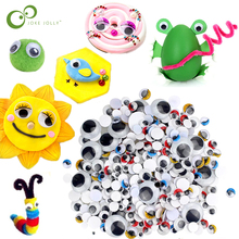 100/200pcs Color Eyes Stickers Doll Plush Stuffed Cup Car Painting DIY Handmade Accessories Self-adhesive Wiggle Eyes Toys ZXH