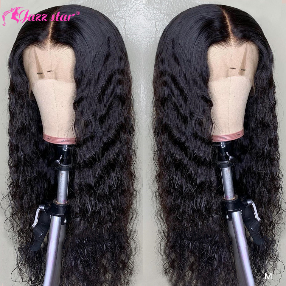 Water Wave Wig Lace Front Human Hair Wigs For Black Women Brazilian Lace Front Wig Pre Plucked With Baby Hair Jazz Star Non-Remy
