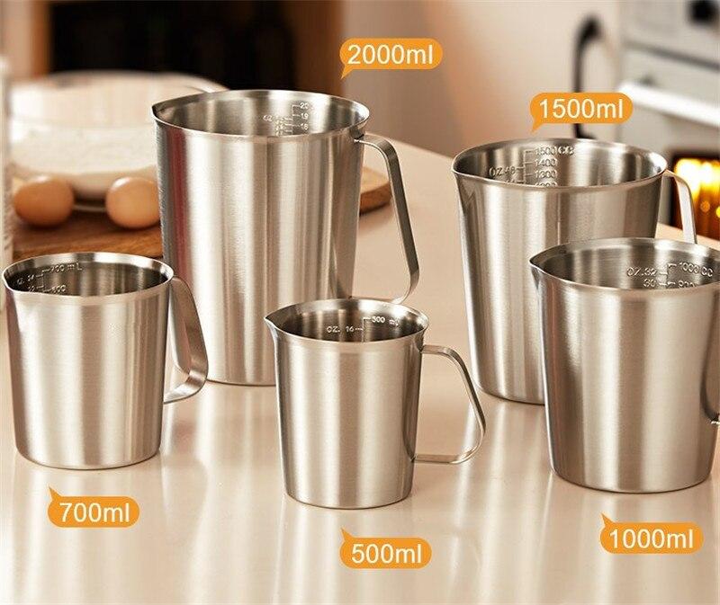304 мерная чашка из нержавеющей стали с внутренним чехлом, дизайн кухонных шкал, мерные стаканчики для жидкости, выдвижная Цветочная чашка, к...