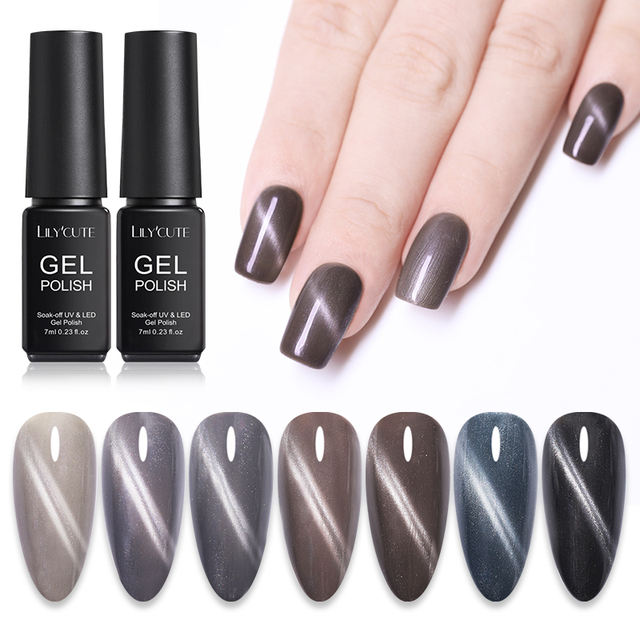 LILYCUTE 7ml Holographic Glitter Magnetic UV Gel