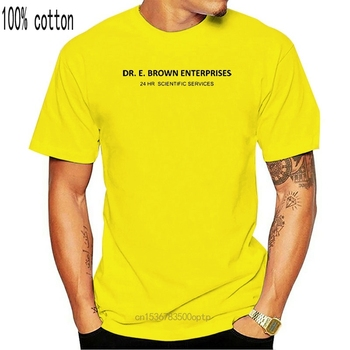 Back To The Future Dr. E Brown Enterprises Licensed Adult T Shirt Mens 100% Cotton Short Sleeve Print Tees Custom Jersey 2018 image