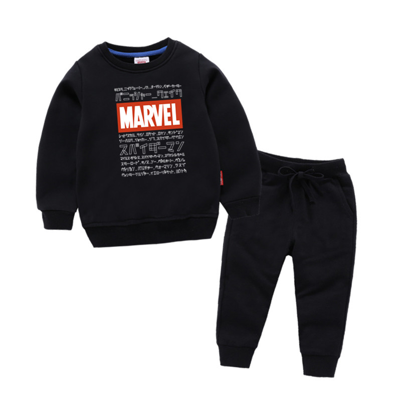 Childrens Marvel Print Cotton Girl Kids Pullover Tops Baby Boys Autumn Clothes Sweatshirts