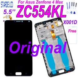 Original 5.5 for for para asus zenfone 4 max zc554kl display lcd de toque digitador da tela peças reposição zenfone 4 max zc554kl x001d