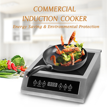 ITOP 3500W Induction Cooker High Power Smart Touch Control Energy-Saving Cooking 220V-240V Commercial Induction Cooker induction cooker 15kw high power canteen concave cooker cooktop fry restaurant commercial electric frying stove cooking utensils