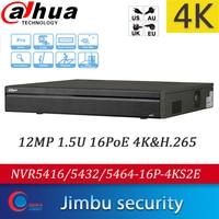 Dahua 4K H.265 NVR recorder 16CH 32CH 64CH NVR5416-16P-4KS2E NVR5432-16P-4KS2E NVR5464-16P-4KS2E 16PoE Up to 12MP Max 320Mbps