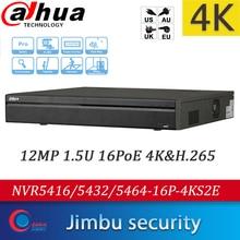 Dahua 4K H.265 NVR recorder 16CH 32CH 64CH NVR5416-16P-4KS2E NVR5432-16P-4KS2E NVR5464-16P-4KS2E 16PoE Bis zu 12MP Max 320Mbps