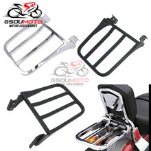 Motorcycle Parts Chrome Black Sport Sissy Bar Backrest Luggage Rack Rear Carrier For Harley Sportster Softail FXDB Dyna XL FLST(China)