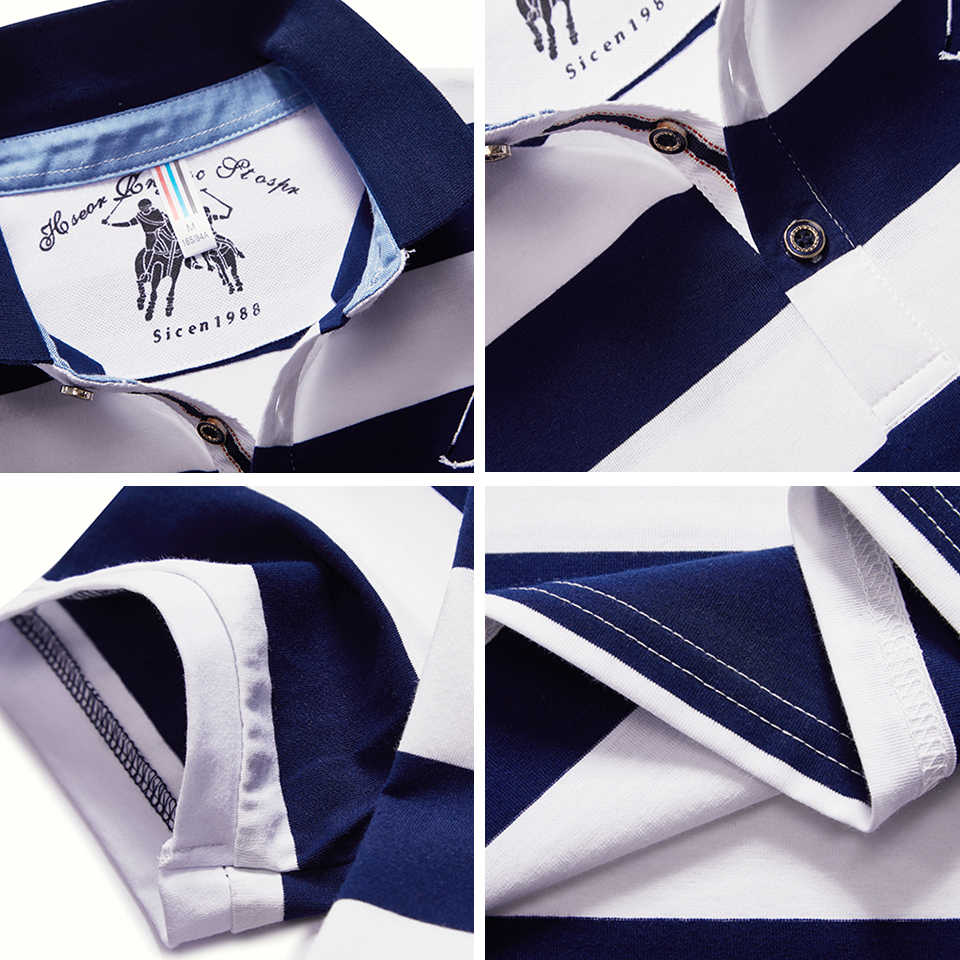 DARPHINKASA 슬림 폴로 셔츠 통기성 짧은 소매 남자 패션 비즈니스 캐주얼 플러스 크기 폴로 셔츠 스트라이프 남자 짧은 소매