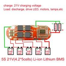 BMS 25A 3S 12.6V 4S 16.8V 5S 21V 18650 Li ion lityum pil koruma devre şarj devre kartı modülü PCM polimer Lipo hücre PCB