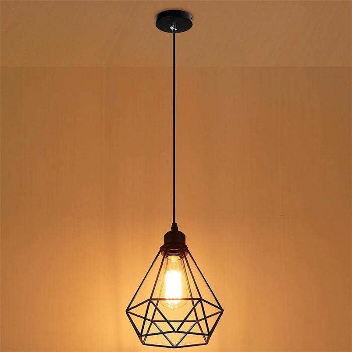 gaiola do vintage lampada led industrial loft 02
