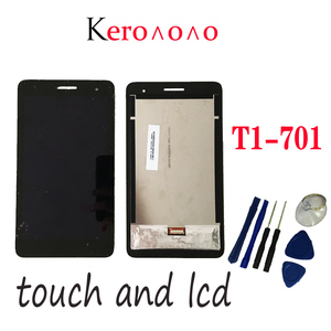 Image 1 - For HUAWEI MediaPad T1 7.0 701 701U 701UA T1 701 T1 701UA T1 701U LCD Display and with Touch Screen Digitizer Assembly+tools