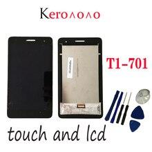 HUAWEI MediaPad T1 7.0 701 701U 701UA T1 701 T1 701UA T1 701U LCD ekran ve dokunmatik ekran Digitizer meclisi + araçları