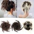 Alileader 1 шт./лот Короткие вьющиеся шиньоны с хвостом термостойкая синтетическая веревка для волос натуральный пучок искусственных волос