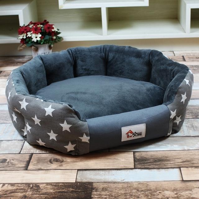 Whismスタイリッシュな3サイズ暖かい犬のベッドソフト防水マット小中犬秋冬ペット猫ベッドラウンド家用品