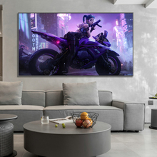 Cyberpunk Poster Future Robot Car Street Canvas Painting Wall Art Pictures Gaming Room Home Decor Net Bar Decorative Painting