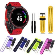 цена на Strap Bracelet For Garmin Forerunner 235 WatchBand Silicone For Garmin Forerunner 220/230/235/620/630/735XT/235 Lite Sport Strap