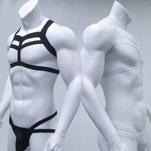 Lingerie Costume Mens Harness Jockstrap Bondage Neck Man Thongs-Set G-String Nightclub
