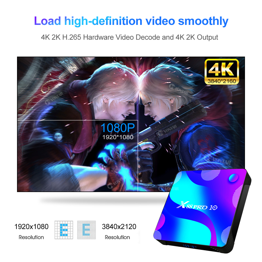lowest price VONTAR X88 PRO Android 10 0 Smart TV Box Android 10 4G 64GB 128GB TVBOX Rockchip RK3318 BT Youtube 4K Set Top Box Media player