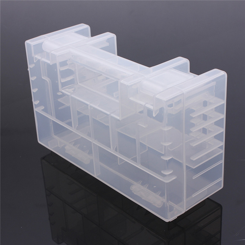 Translucent Hard Plastic Case Holder Storage Box For AA AAA C Battery Useful Battery Box Boxs Home House Tool Tools
