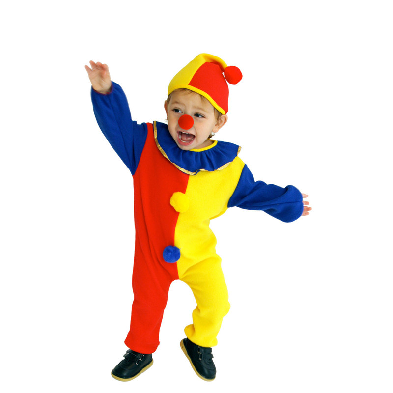 Naughty Haunted House Kids Child Clown Costume for Baby Girls Boys Toddler Halloween Purim Carnival Party Costumes 4