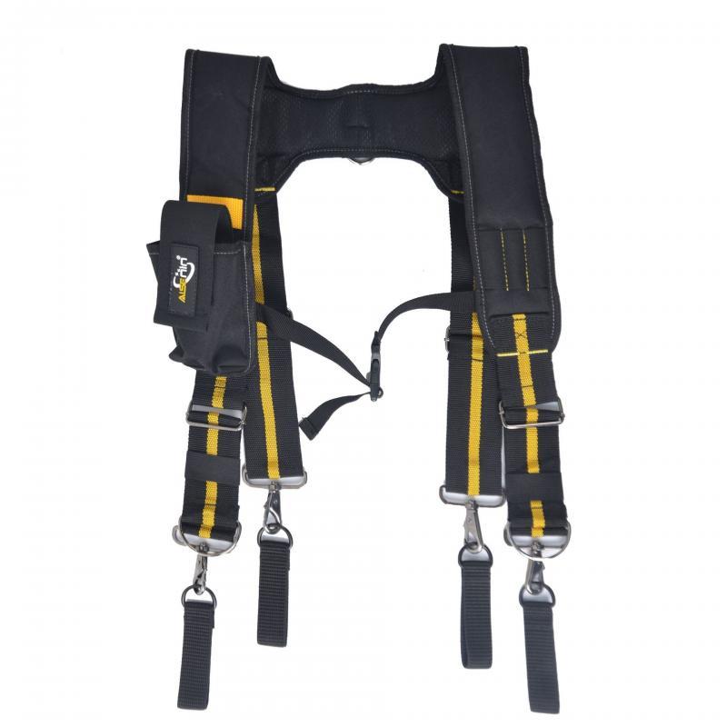 Heavy Duty Work Tool Suspender H-type Engineering Tool Belt Bag To Lighten Waist Load Safe Multifunctional Tooling Harness Tool