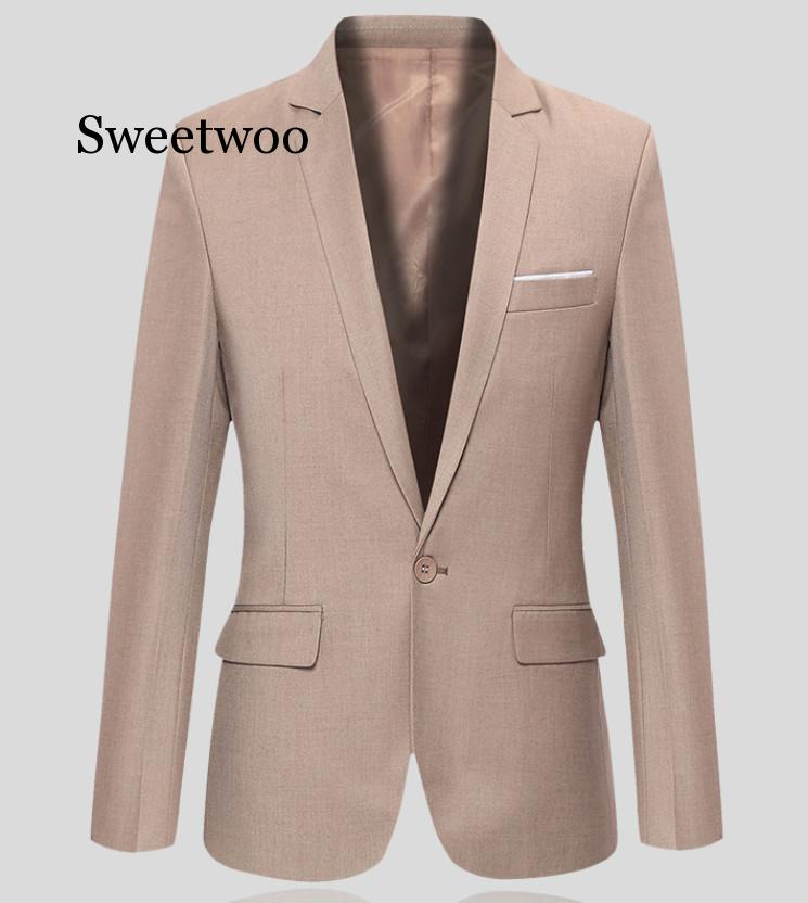 SWEETWOO Men Slim Fit Social Blazer Jacket Spring Fashion Solid Mens Suit Jacket Casual Business Male Suit Coat 2020