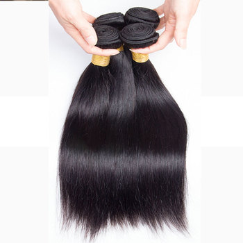 Straight Hair Peruvian Straight Human Hair Weave Bundles Natural Black 1/3/4 pcs/lot 100% Human Hair Bundles Remy Hair image