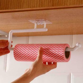 Akrylowy uchwyt na papier toaletowy stojak na tkaninę naścienny łazienka kuchenny uchwyt na papierowe ręczniki wieszak na akcesoria nowoczesne akcesoria łazienkowe tanie i dobre opinie Aihogard Z tworzywa sztucznego NONE CN (pochodzenie) Paper Roll Holder Small 14 5x6 3cm Large 28 5x7 7cm White Gray Dropshipping