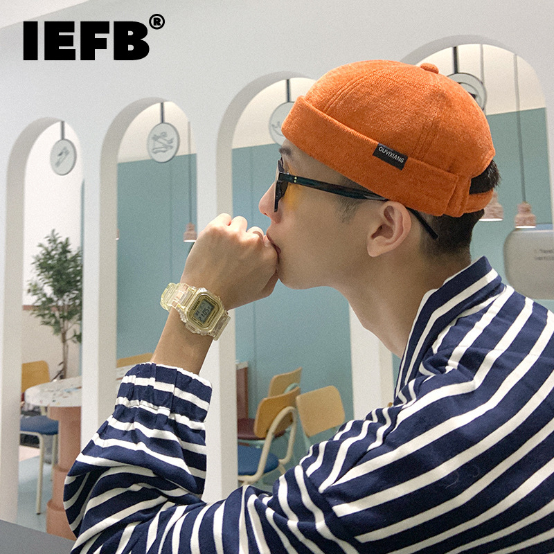 IEFBfashion Chic Unisex Letter Paste Cloth Embroidery Cap For Men Women New Outdoor Streetwear Landlord Hats Autumn Winter 2021