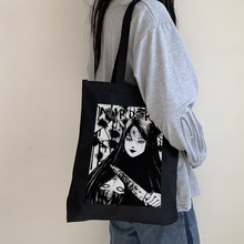 Japanese anime Tomie female bag Harajuku gothic canvas bag horror cartoon large capacity shopper bag casual fashion shoulder bag
