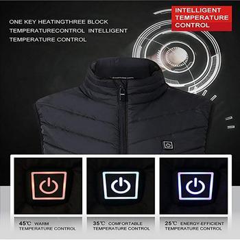 Electric Heated Vest Men Women Heating Waistcoat Thermal Warm Clothing Usb Heated Outdoor Vest Winter Heated Jacket