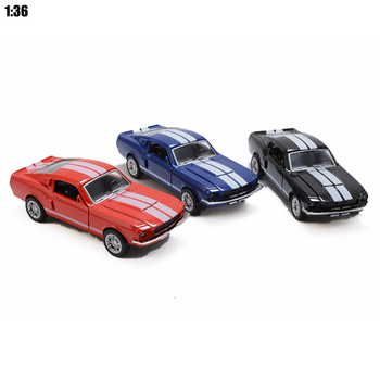 1:36 Scale Static Model Mustang 1967 GT 500 Pull Back Toy Car Model Miniature Collection Kids Gift Free shipping Drop shipping cellulose molecular model cellulose structure model c6h10o5 2 dls 2376 free shipping